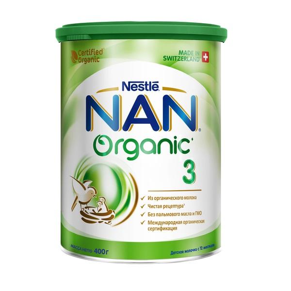 Купить NAN® 3 Organic Сухая молочная смесь для детей с 12 месяцев, 400гр, Швейцария