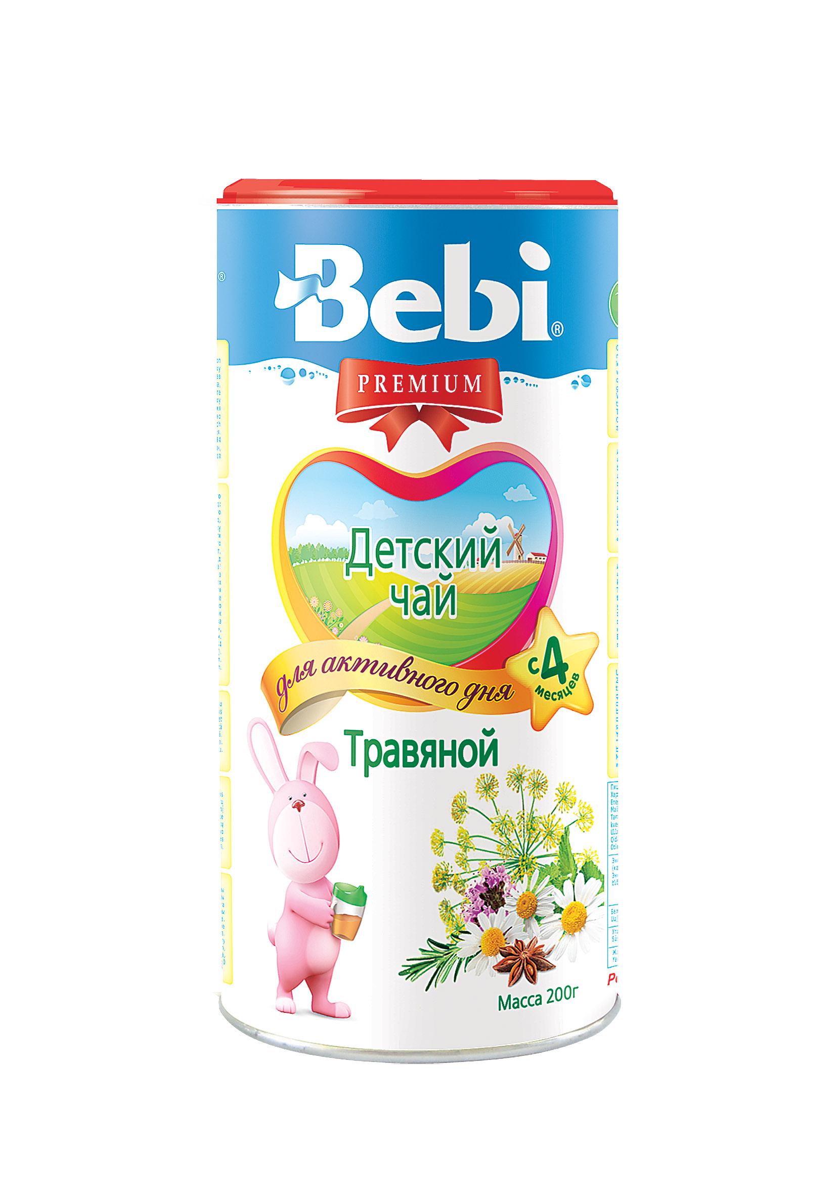 Купить Растворимый детский чай Bebi Premium травяной, 200гр, Словения