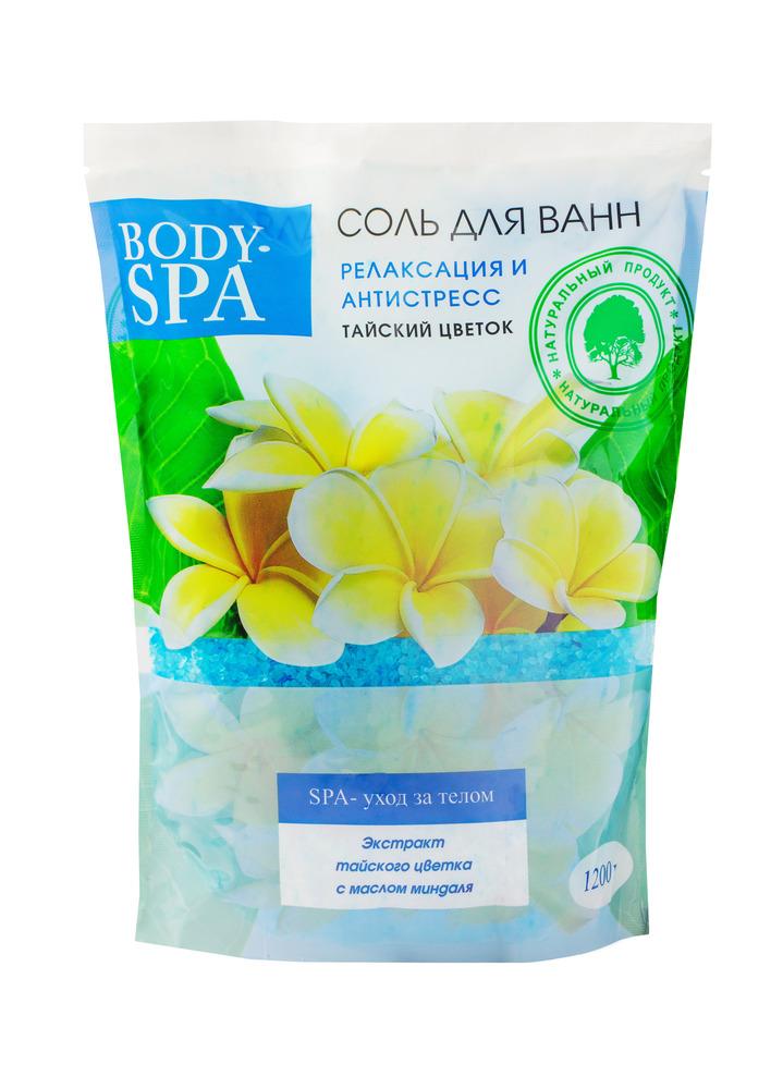 Купить Соль для ванн Северная жемчужина Body-spa Тайский цветок , релаксация и антистресс, 1200гр, Россия