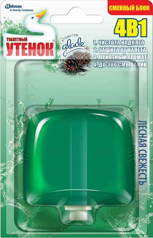 Купить Очиститель для унитаза подвесной Туалетный утенок Лесная свежесть , сменный блок, 55мл, Туалетный Утёнок, Россия
