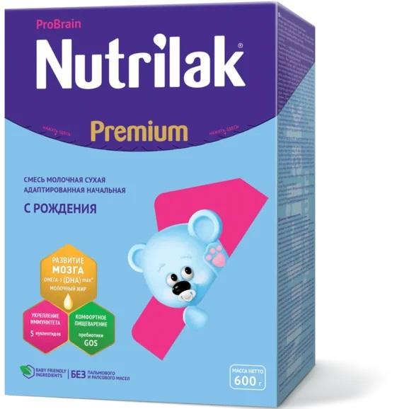 Смесь сухая молочная Nutrilak Premium 1, 600гр