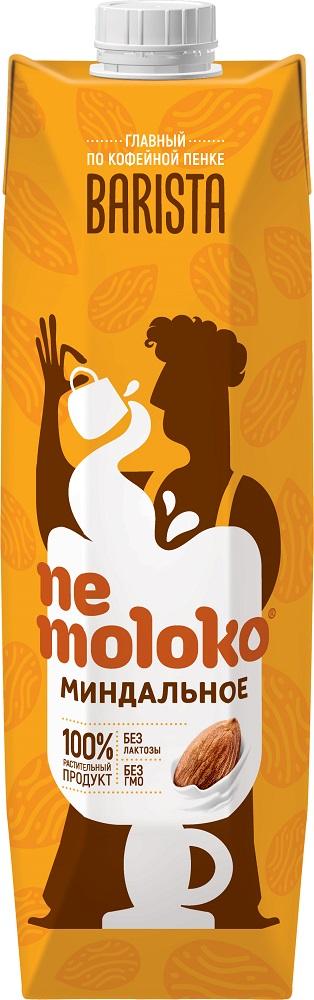 Напиток миндальный Nemoloko Barista с витаминами и минералами, 1л