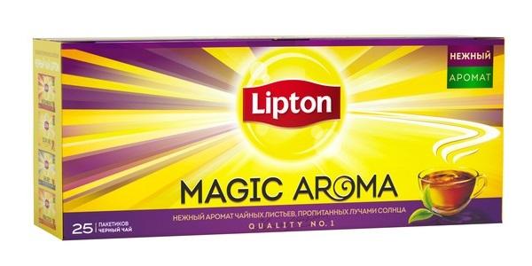 Чай черный Lipton Magic Aroma, 25 пакетиков фото