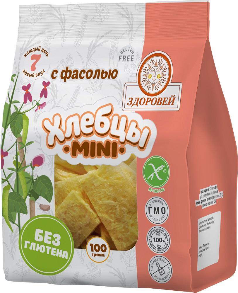 Купить Хлебцы Здоровей mini с фасолью, 100гр, Россия