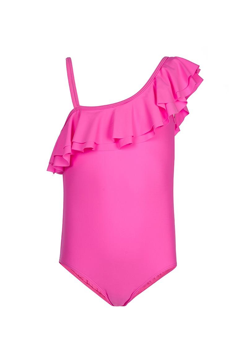 """Купальник OLDOS """"Лора"""" для девочки, розовый неон фото"""