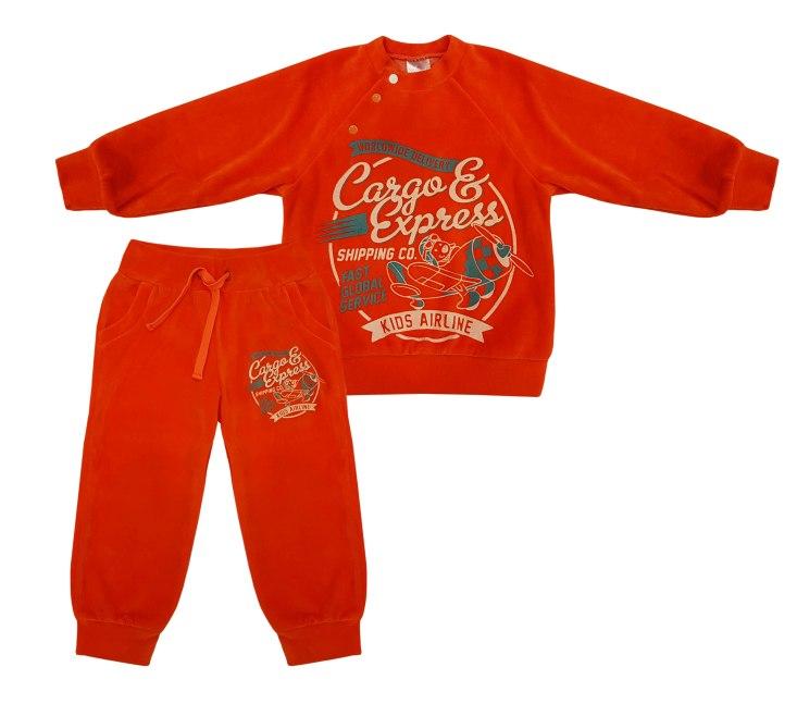 Купить Комплект NewBorn красный: толстовка и штаны, Наша Мама, Россия, Красный, 98