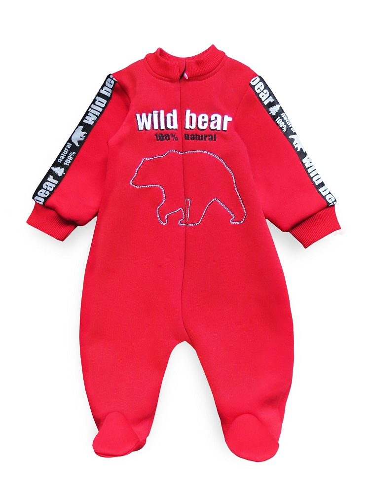 Купить Комбинезон Persona Mini Wild Bear , с вышивкой, красный, Polini Kids, Россия, Красный, 68