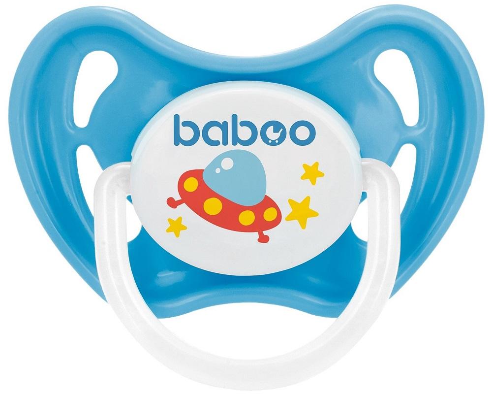 Купить Соска-пустышка Baboo Space латексная, ночная со светящимся кольцом, 6+, Великобритания
