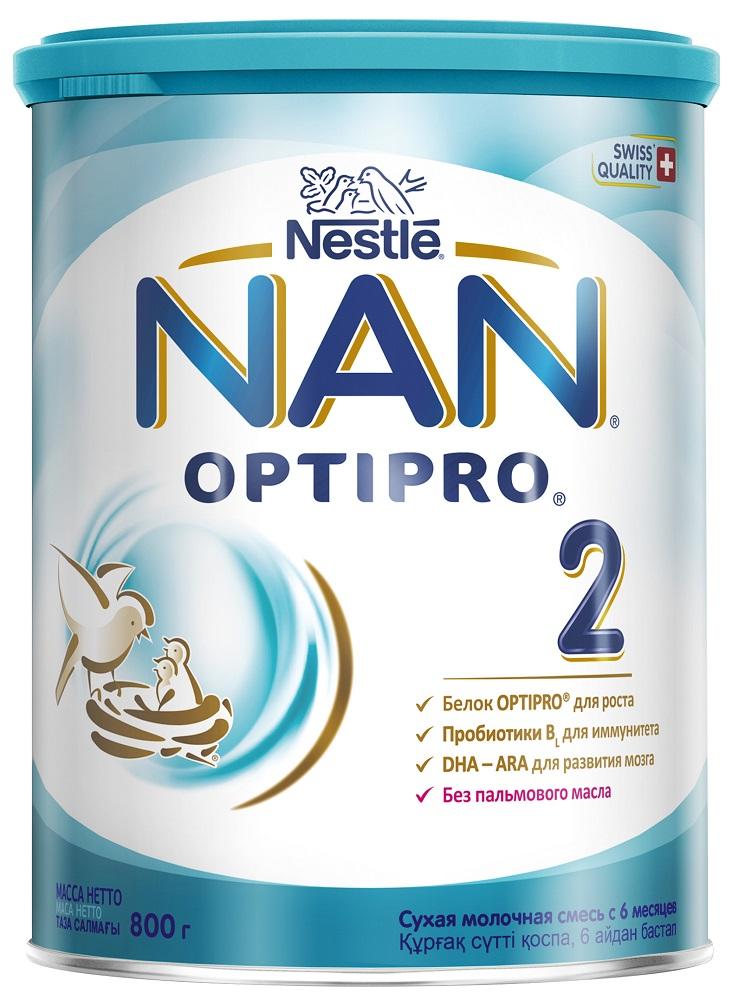 Купить NAN® 2 Optipro Сухая молочная смесь для детей с 6 месяцев, 800гр, Швейцария
