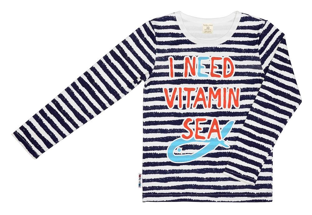Купить Лонгслив Lucky Child I Need Vitamin Sea для мальчика, Bembi, Украина, Мульти, 104