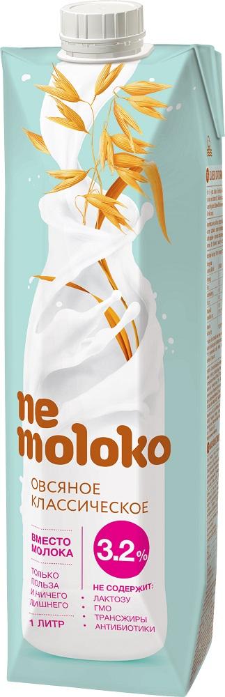 Напиток овсяный Nemoloko классический 3,2 %, 1л