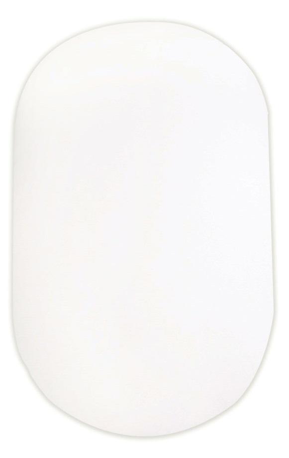 Простынь Сонный Гномик в овальную кроватку, 130х75см, цвета молока