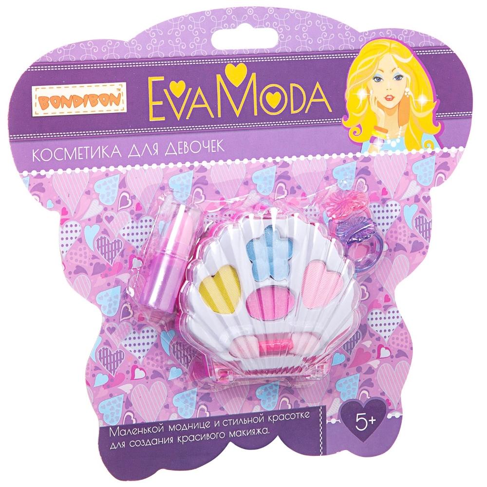 Купить Набор детской декоративной косметики и аксессуаров Bondibon Eva Moda Ракушка с тенями , Бельгия