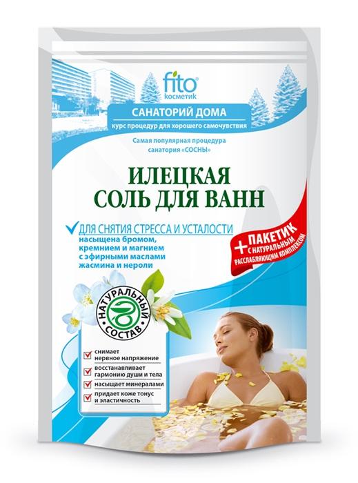 Соль для ванн Илецкая для снятия стресса и усталости, 500г фото