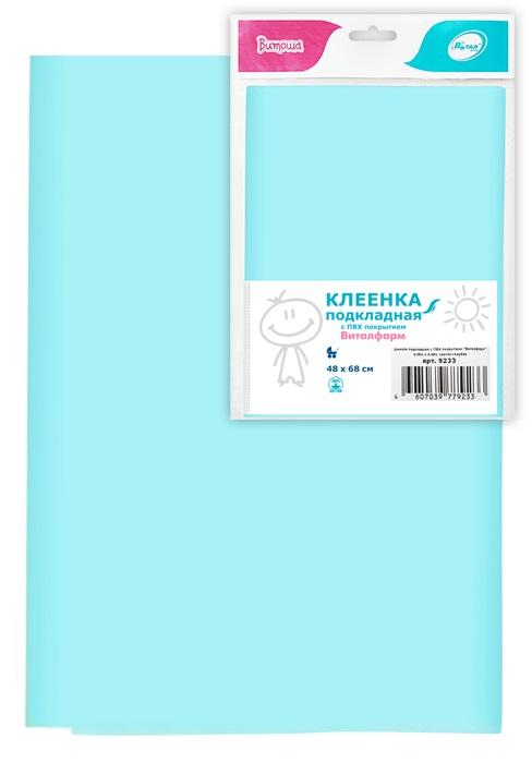 Клеенка подкладная Виталфарм, 48х68см, светло-голубая