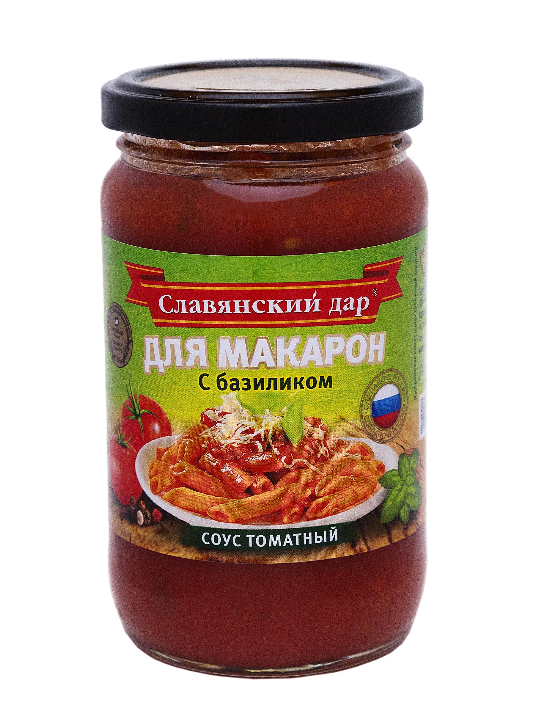"""Соус томатный Славянский Дар """"Для макарон с базиликом"""", 360гр фото"""
