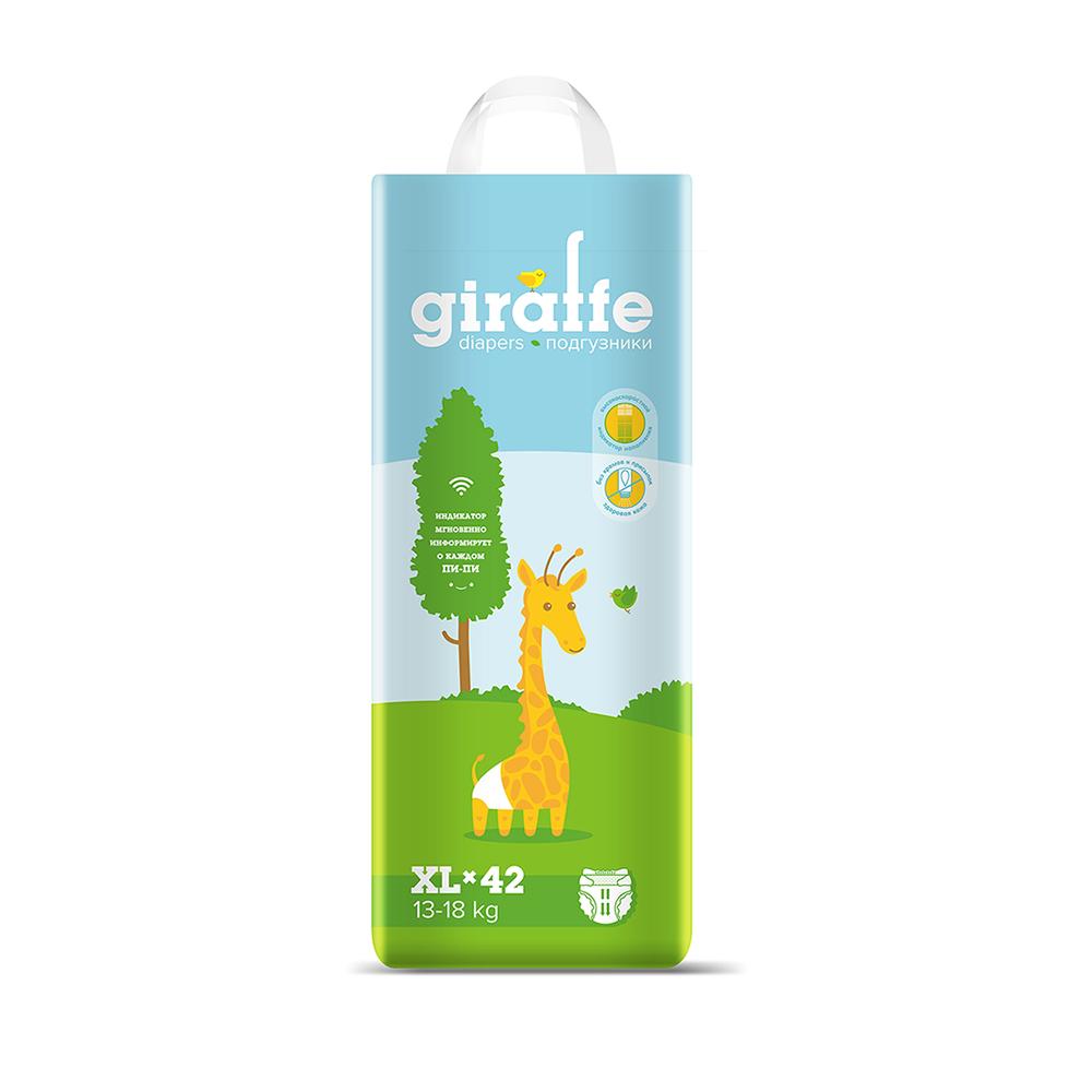 Подгузники Lovular Giraffe XL (13-18кг), 42шт. фото