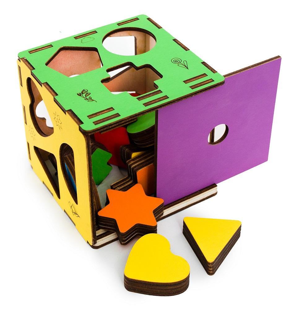 Купить Сортер Эlen Toys Геометрические формы , 14 деталей, Россия