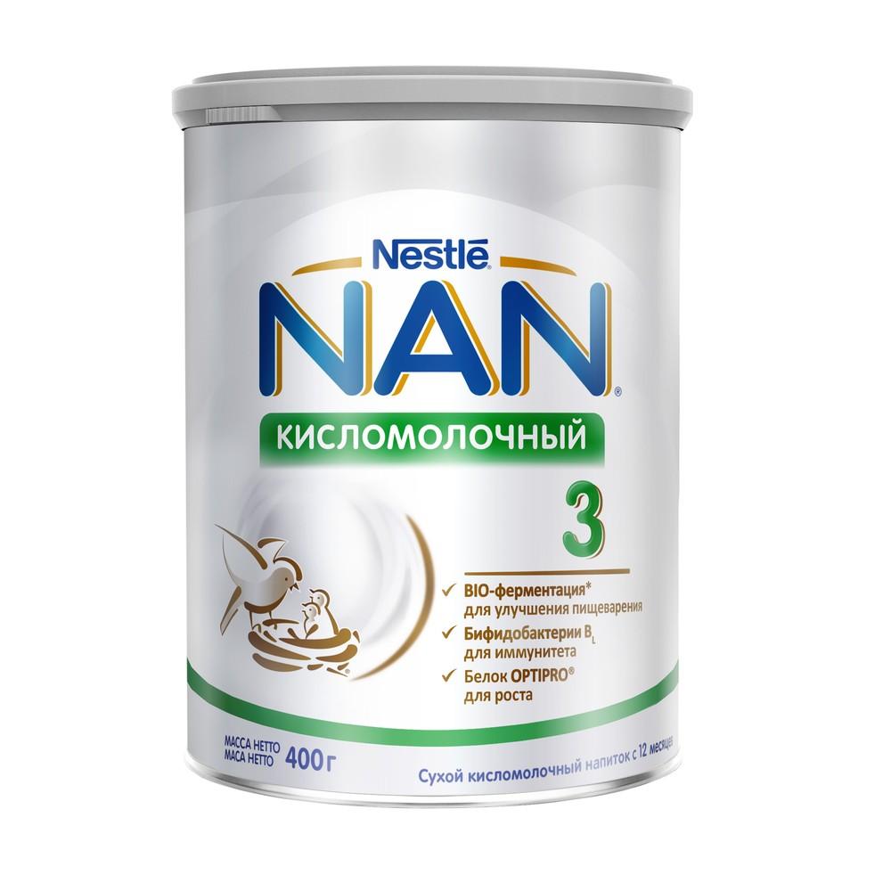 NAN® Кисломолочный 3 Сухой кисломолочный напиток для детей с 12 месяцев, 400гр