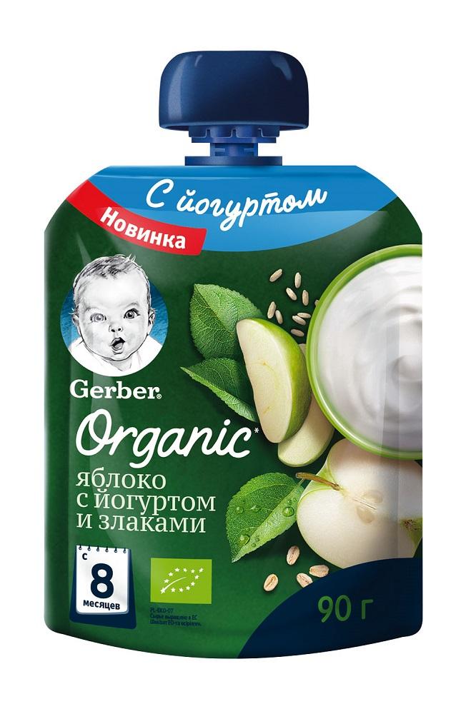 Купить Фруктово-йогуртное пюре Gerber Яблоко со злаками, 90гр, США