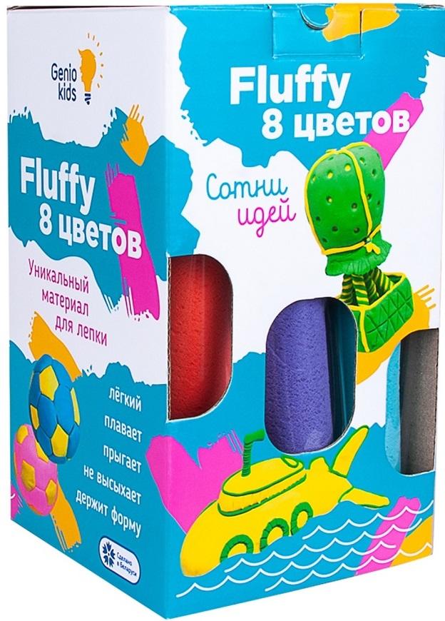 Купить Воздушный пластилин для детской лепки Genio Kids Fluffy , 8 цветов, Беларусь