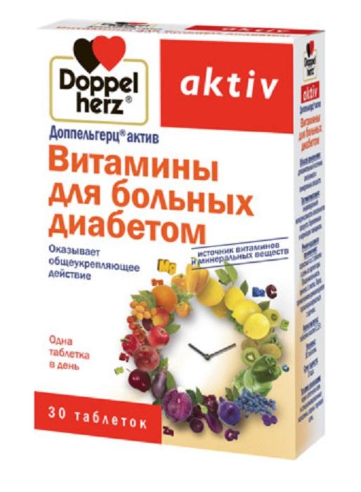 Купить Доппельгерц Актив Витамины д/больных диабетом таб. 1, 15г №30, Queisser Pharma