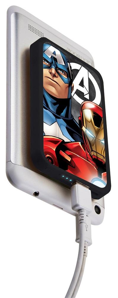 Купить Зарядное устройство Lexibook Мстители , с присосками, 4000mAh, ND Play, Россия