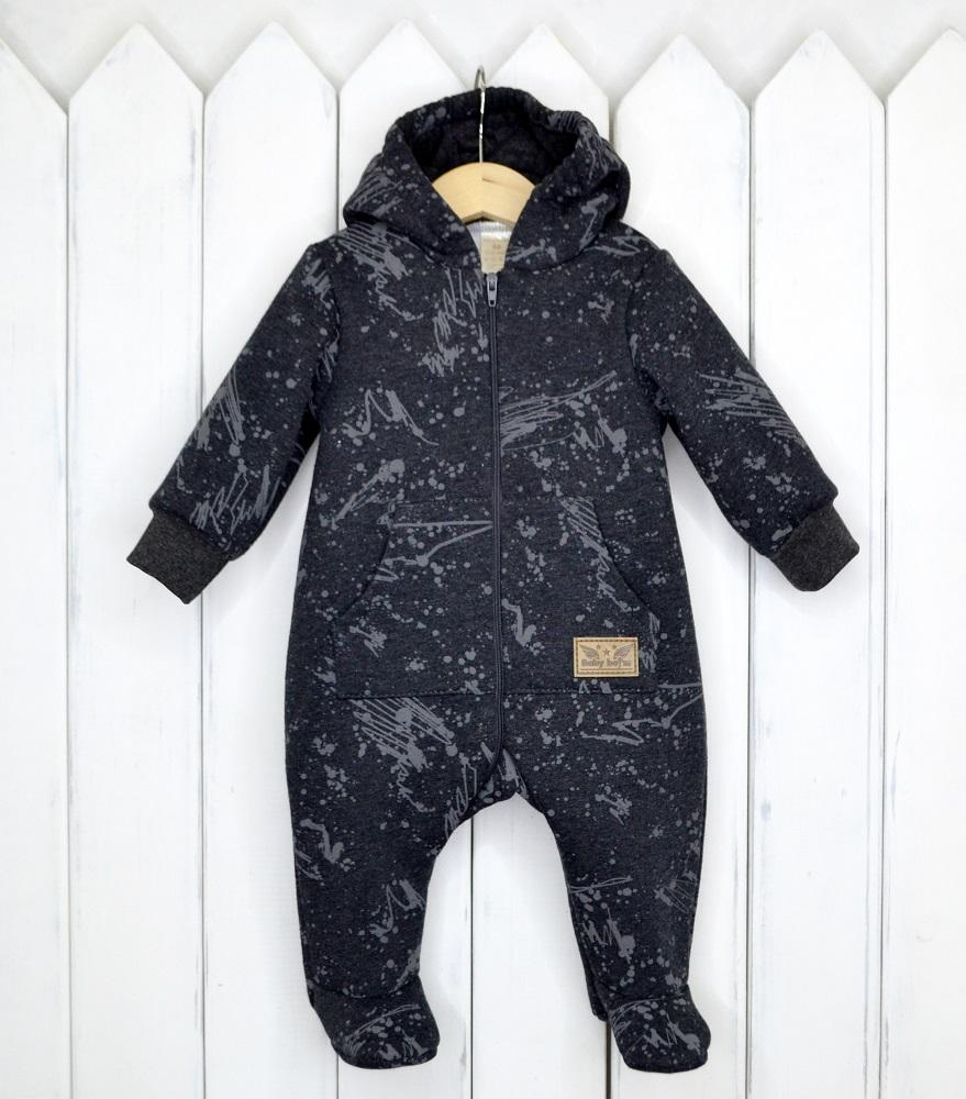 Купить Комбинезон Baby Boom с капюшоном, антрацит, Наша Мама, Россия, Антрацит, 62