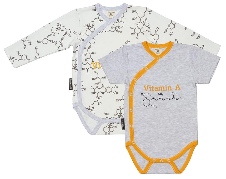 Купить Комплект боди Lucky Child Витамин , 2шт., Наша Мама, Россия, Мульти, 62