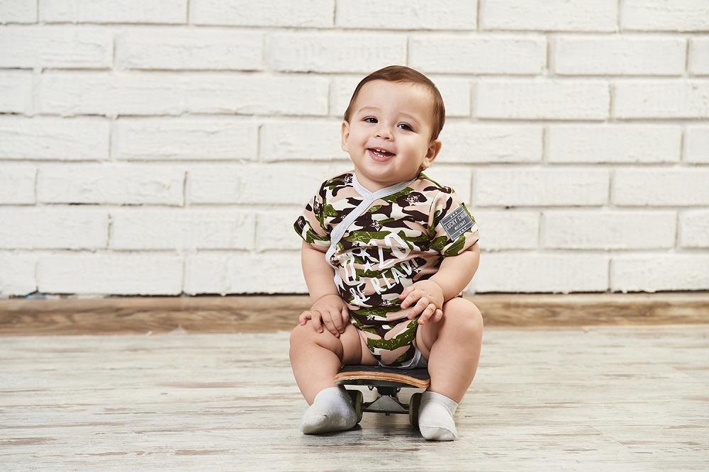Купить Боди Lucky Child Будь готов Милитари для мальчика, зеленое, Наша Мама, Россия, Зеленый, 62