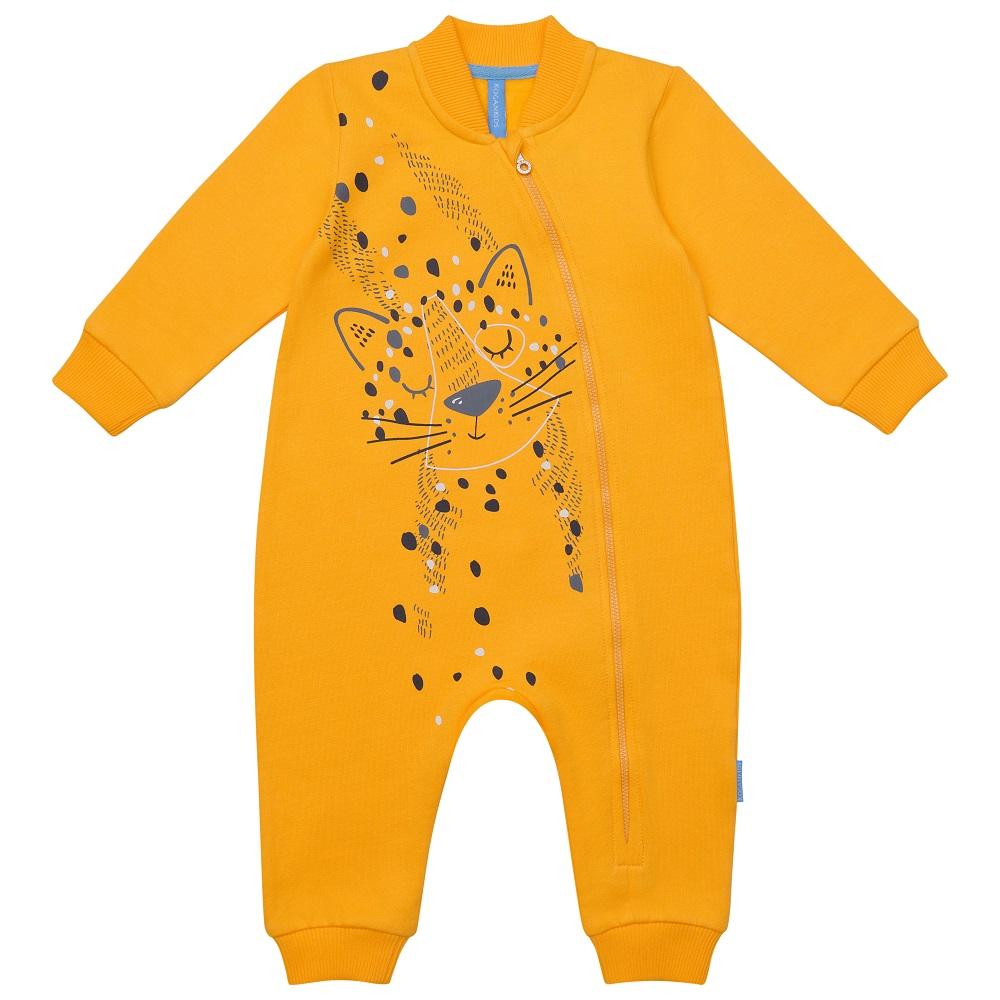 Купить Комбинезон Kogankids Котёнок для девочки, желтый, Наша Мама, Россия, Желтый, 62