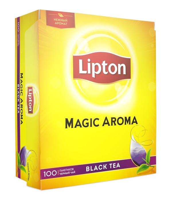 Чай черный Lipton Magic Aroma, 100 пакетиков фото