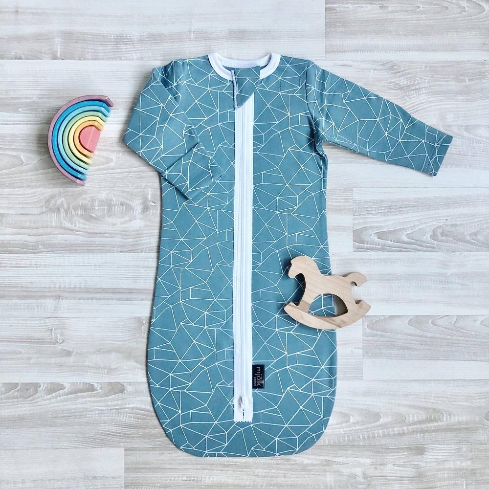 Купить Утепленный спальный мешок Mjolk Blue Ice , Сонный Гномик, Россия, Синий, 62