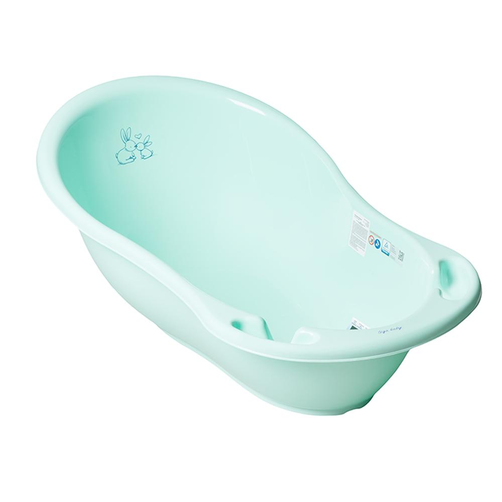Купить Ванна детская Tega Кролики с термометром и сливом, 102см, OkBaby, Италия, Зеленый