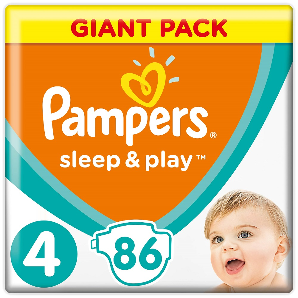Подгузники Pampers Sleep&Play Maxi 4 (9-14 кг), 86шт.