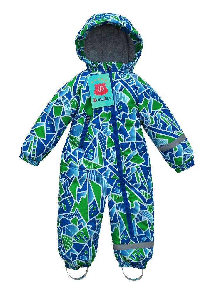 Купить Демисезонный комбинезон ДетиЗим Кроха , зелено-голубой, Crayola, Соединенные Штаты Америки, Зеленый, 86