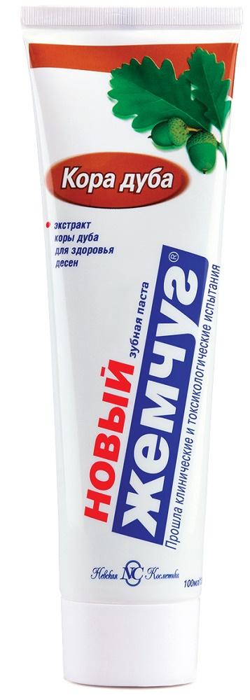 Купить Зубная паста Новый Жемчуг с корой дуба, 100мл, Новый жемчуг, Россия