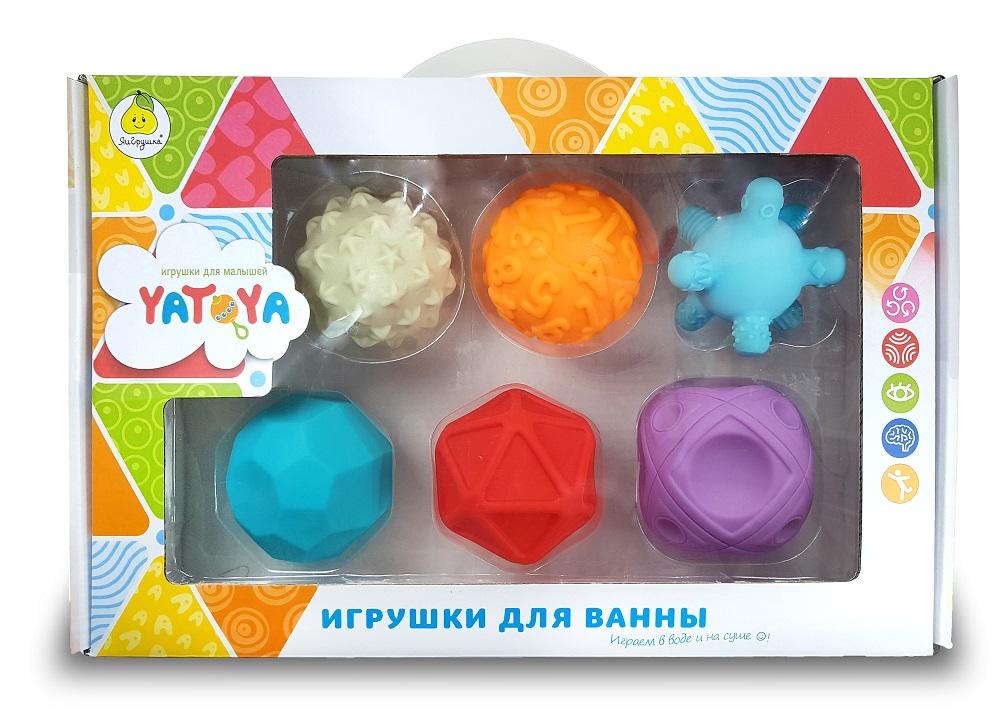 Купить Мячики массажные YATOYA разноцветные, 6шт., Китай