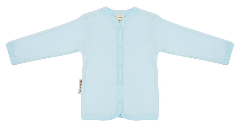 Купить Кофточка детская Lucky Child Ажур , голубая, Bembi, Украина, Голубой, 56