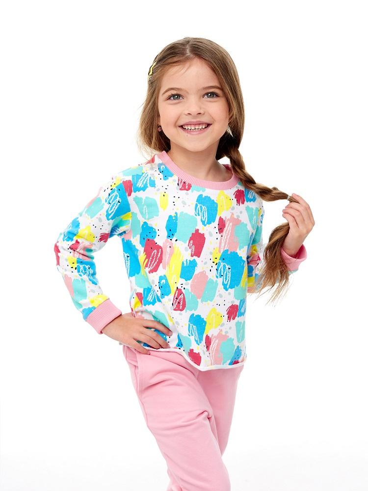 Купить Толстовка UMKA 205-014-03-201 для девочки, разноцветная, CS Medica, Россия, Мульти, 122