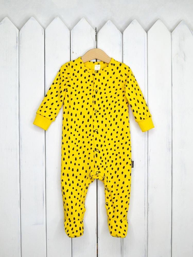 Купить Комбинезон Baby Boom Гепард на мимозе , Наша Мама, Россия, Желтый, 68