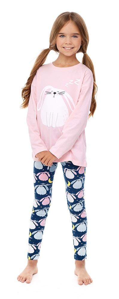 Купить Комплект пижамный UMKA Cuty Bunny 104-018-03: футболка и брюки, для девочки, Витоша, Россия, Мульти, 122