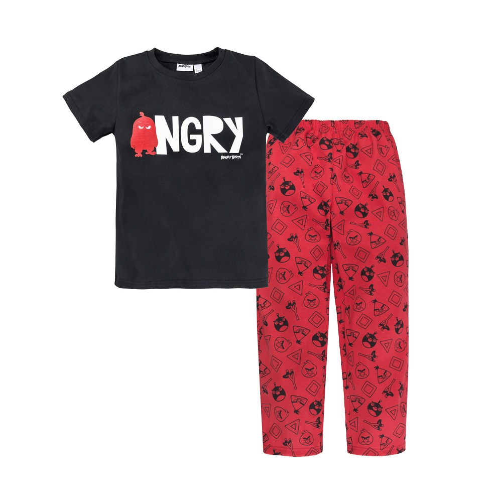 Купить Пижама Bossa Nova Angry Birds для мальчика: футболка и брюки, Витоша, Россия, Мульти, 86