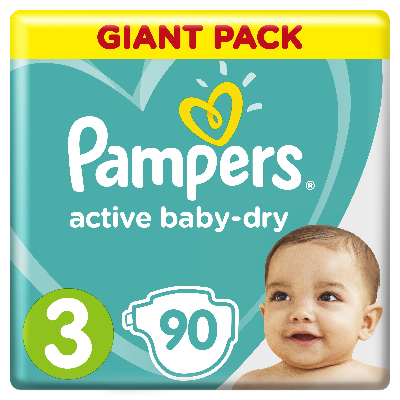 Купить Подгузники Pampers Active Baby-Dry Midi 3 (6-10кг), 90шт., США