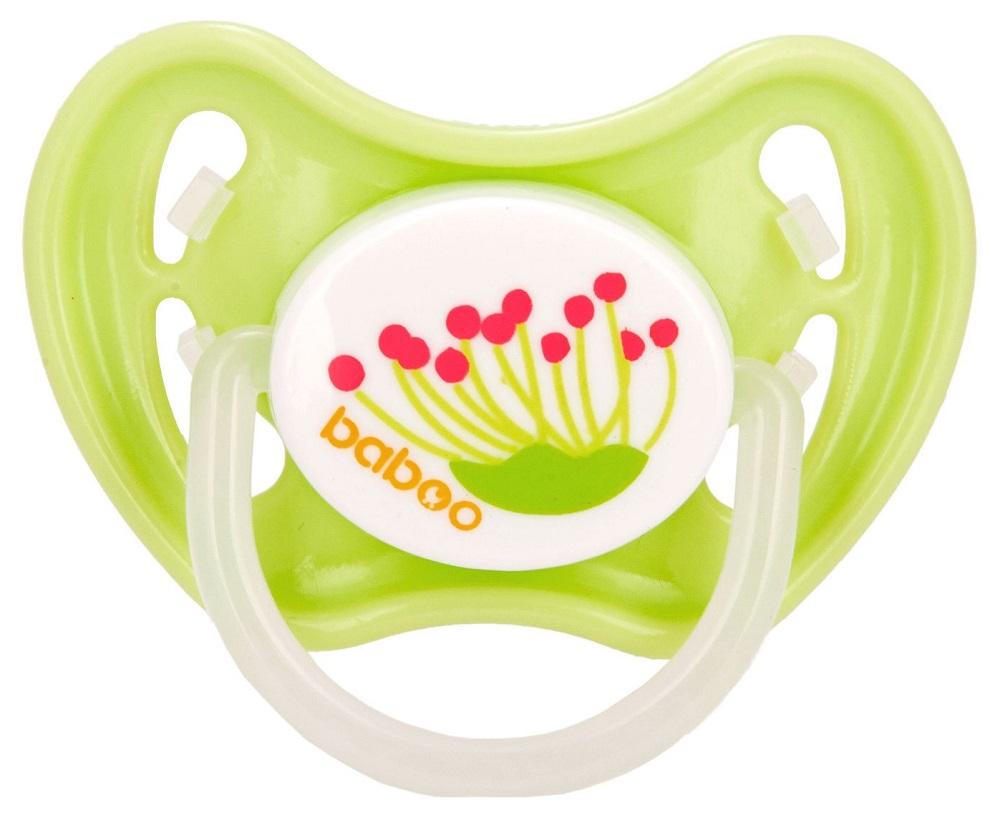 Купить Соска-пустышка Baboo Summer силиконовая, ночная со светящимся кольцом, 6+, Великобритания