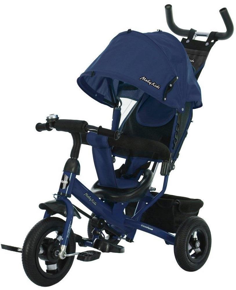 Купить Детский велосипед Moby Kids Comfort 10x8 AIR, трехколесный (цвета в ассорт.), Novatrack, Россия, Синий