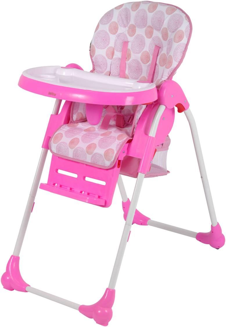 Стульчик Selby BH-435 для кормления (цвета в ассорт.) Chicco розового цвета