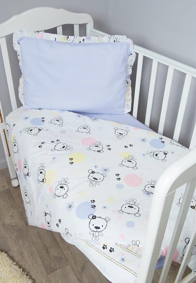 Купить Комплект постельного белья Сонный гномик Конфетти , 3 предмета, голубой, Сонный Гномик, Россия