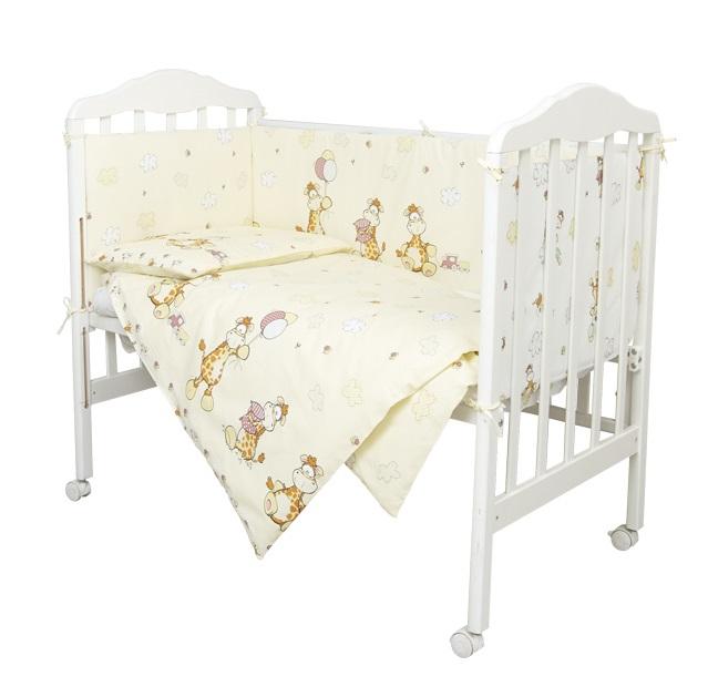 Купить Комплект в кроватку Сонный Гномик 609/4 Жирафик , 6 предметов, бежевый, Россия