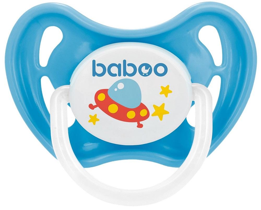 Купить Соска-пустышка Baboo Space силиконовая, ночная, 0+, Великобритания, Синий